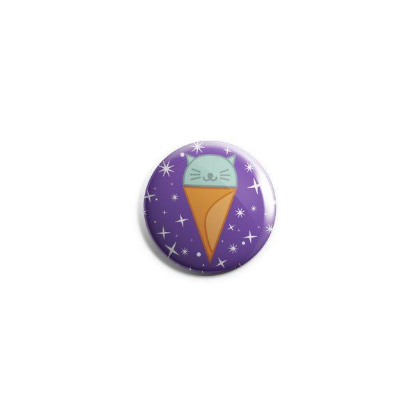 Cat Cone Cat Galaxy Button